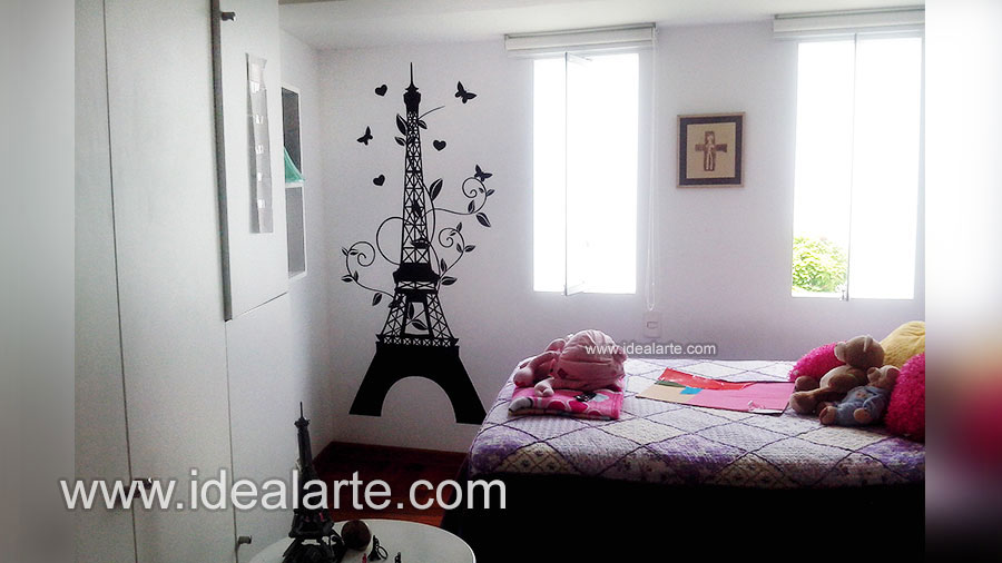 vinilo decorativo sticker de torre eiffel