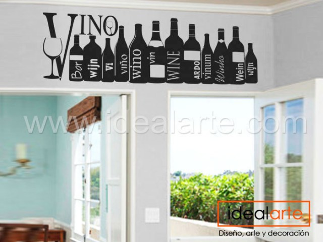 Vinilo decorativo de Botellas de vino