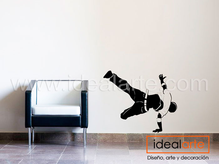 Vinilo decorativo de break dance
